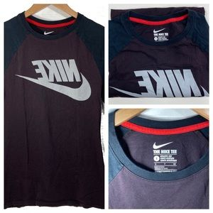 NIKE 3/4 Sleeve Reverse Logo T-Shirt Men's Small